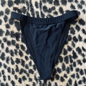 Missguided black high waisted swim bottoms